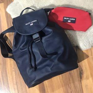 90's POLO SPORT Ralph Lauren Navy Blue Backpack